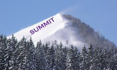 Coached to the summit logo